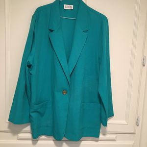 Woman's lightweight turquoise jacket/blazer size Large for Sale in Fresno, CA