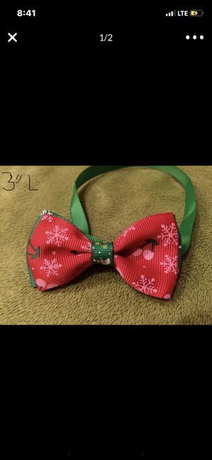 Pet holiday bow tie for Sale in Smyrna, GA