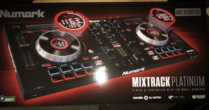 Numark Mixtrack Platinum Dj Controller and ODYUSA case for Sale in Durham, NC