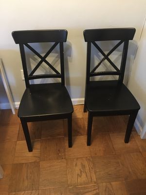Pair of IKEA Ingolf Dining Chairs for Sale in Washington, DC