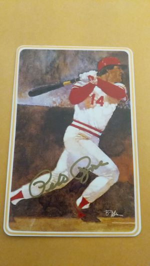 Pete Rose personally autograph ceramic card for Sale in Los Angeles, CA