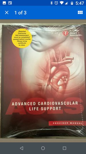 Advanced Cardiovascular Life Support Provider's Manual, Current/2015 Standards, New. for Sale in Glen Allen, VA
