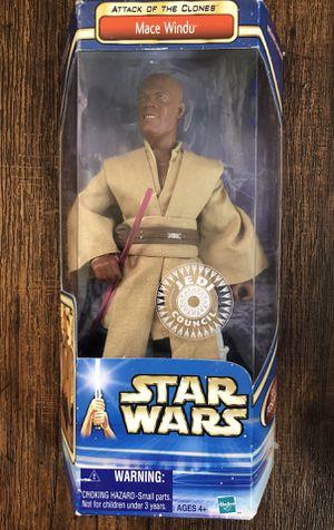 """Star Wars Mace Windu (AOTC) 12"""" Figure W/ Red Lightsaber for Sale in San Diego, CA"""