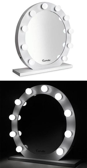 """(New in box) $160 White 28"""" Vanity Mirror w/ 10 Dimmable LED Light Bulbs, Hollywood Beauty Makeup USB Outlet for Sale in Whittier, CA"""