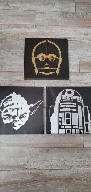 3 starwars cavas for Sale in Ontario, CA