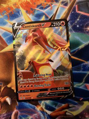 Pokémon Centiskorch V card darkness ablaze for Sale in El Monte, CA