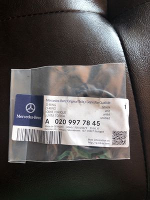 Mercedes Benz sprinter turbocharger intercooler air pipe O ring part#A0209977845 for Sale in Bedford Park, IL