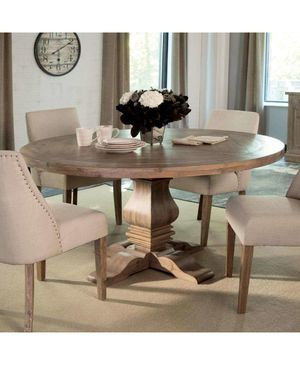 Round wooden dining table w/ hairpin legs for Sale in Denver, CO
