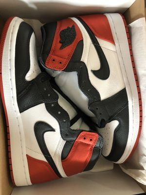 NIKE AIR JORDAN SATIN BRED TOE SIZE 9.5 WOMENS 8 MENS for Sale in Hawthorne, CA