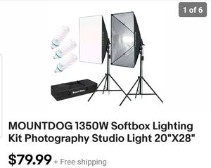 Softbox Lighting Kit/ Photography Studio Light for Sale in San Bernardino, CA