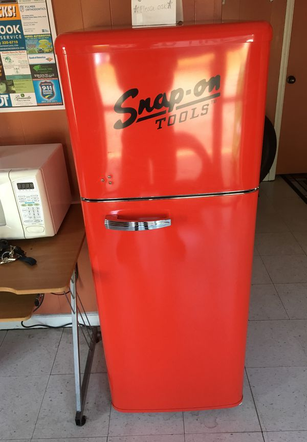 Limited Edition Snap On Vintage Fridge Freezer For Sale In