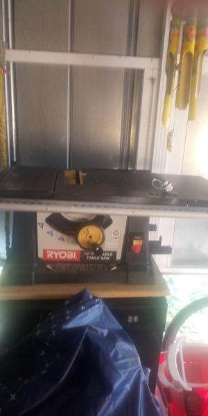 """Ryobi 10"""" table saw for Sale in Sebring, FL"""