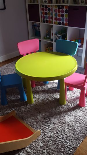 IKEA Kids table and 4 chairs for Sale in Portland, OR