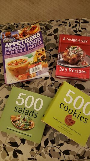 Assorted Cookbooks- 4 for $8 for Sale in North Canton, OH