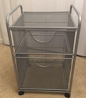 Steel mesh file cabinet with 12 file folders for Sale in Warren, MI