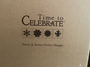 Time to Celebrate-Petals and Stems Flower Shoppe-Dept 56 Snow Village for Sale in Midland, TX