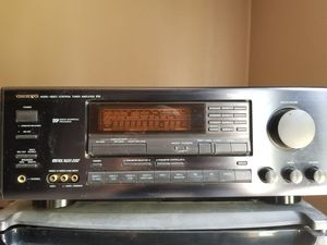 Onkyo turner amplifier with speakers yamaha bass speaker with a center defintive speaker for Sale in Palmdale, CA