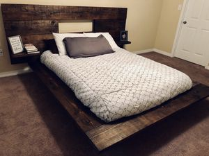 Handcrafted floating bed frame for Sale in Gulfport, MS