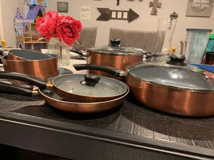 11pcs Copper pans barely used for Sale in Kemah, TX