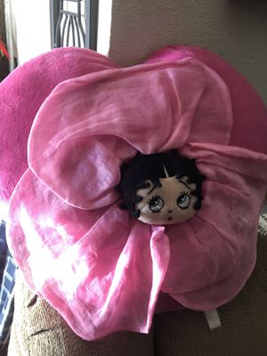 Betty boop pink heart pillow for Sale in Fountain Valley, CA