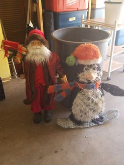 Santa and Snowman Christmas decorations for Sale in Colorado Springs,  CO