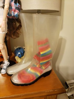Clear Rain Boots size 7 for Sale in Largo, FL