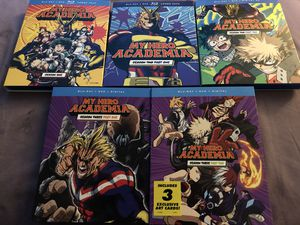 My Hero Academia season's 1-3 bundle $60 FIRM MUST PICKUP IN THE MORNING for Sale in Livonia, MI