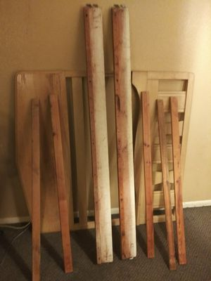 Full size wooden bed frame for Sale in Longview, TX