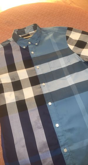 Blue Burberry Shirt Authentic for Sale in Jersey Village, TX