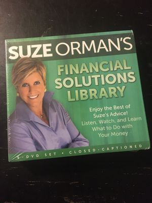 NIP Suze Orman 9 - DVD Set Financial Solutions Library for Sale in Fort Worth, TX