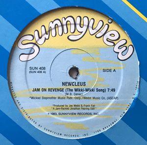 Newcleus - Jam On Revenge (The Wikki-Wikki - (12-inch Vinyl Record) Single for Sale in Corona, CA