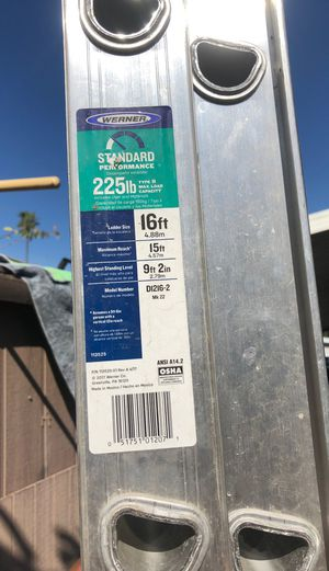 Werner 16Ft Aluminum Ext. Ladder for Sale in Anaheim, CA