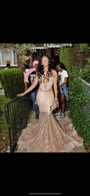 Rose Gold PROM dress | madebyMarquette $700 or best offer for Sale in Upper Darby, PA