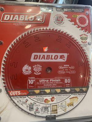 "Ultra Finish Saw Diablo 10"" 80 teeth blade for Sale in Los Angeles, CA"