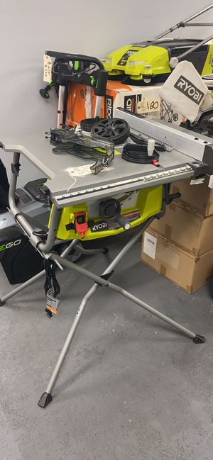 """Ryobi 10"""" Table Saw With Folding Stand for Sale in Corona, CA"""