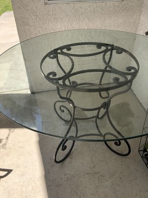 Beautiful wrought iron/glass dining table for Sale in Fresno, CA