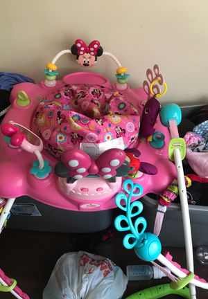 Mini Mouse Bouncer, 3 in 1 Tummy Time Pit, Bathing Chair, Car Seat. for Sale in High Point, NC