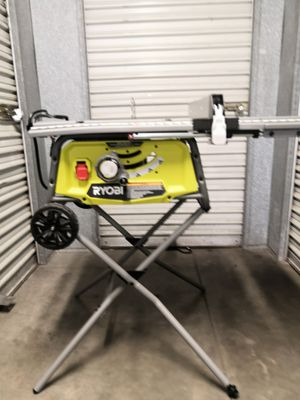 RYOBI 15 Amp 10 in. Expanded Capacity Table Saw With Rolling Stand for Sale in San Diego, CA