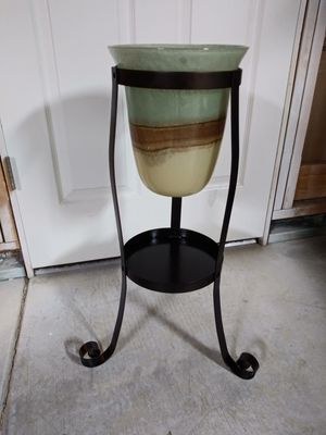 Partylite Glass Vase with Stand for Sale in Thornton, CO