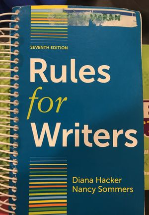 Rules for Writers 7th edition for Sale in Chillum, MD