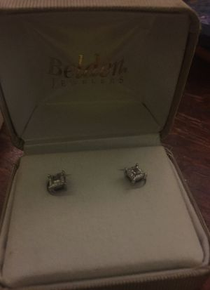 White gold diamond earrings for sale for Sale in Manchester, CT
