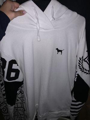 Medium white vs pink hoodie for Sale in Portland, OR
