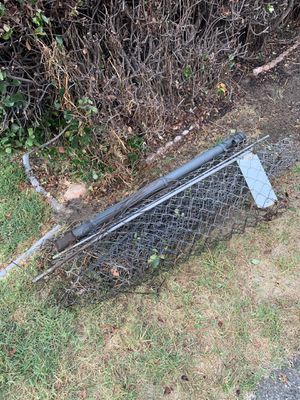 On the curb FREE chain link fence for Sale in Covina, CA