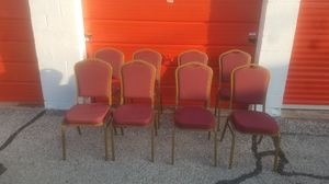 Like new padded stackable chairs for Sale in Amarillo, TX