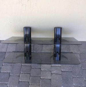 Glass Wall Mount shelves for Home Theater System for Sale in Homestead, FL