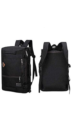 Men Canvas Backpack Travel Bag Hiking Bag Camping Rucksack Black for Sale in Kansas City, MO