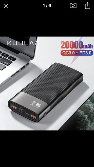 Portable Battery Bank with 20000 mAh for iPhone, Androids, Laptops, and Tablets for Sale in Long Beach, CA