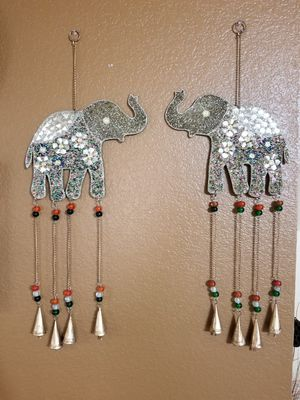 Fancy Elephant Wind Chime or Wall Decor New for Sale in Austin, TX