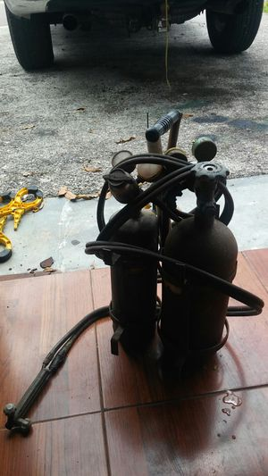 Portable welder with tanks holder and hose for Sale in St. Petersburg, FL