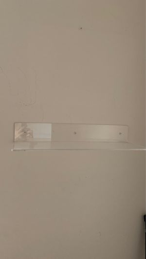 Clear acrylic bathroom wall shelves invisible for Sale in Los Angeles, CA